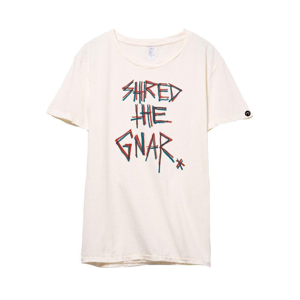 Shred The Gnar Distressed Tshirt (Natural)