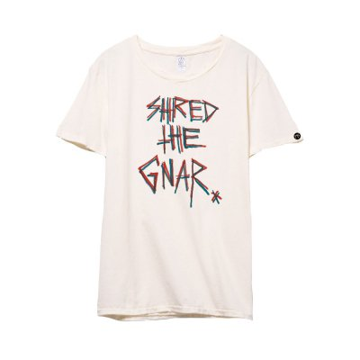 Shred The Gnar Distressed Tshirt (Natural)