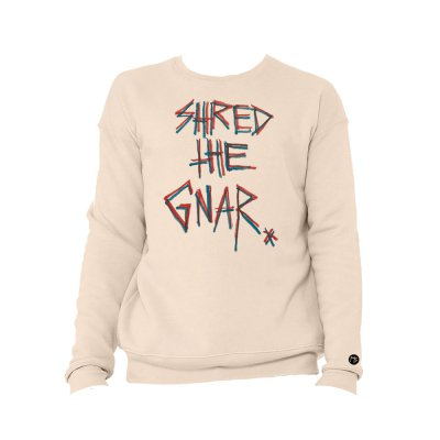 Matt Skiba - Shred The Gnar Distressed Sweatshirt (Heather Dust