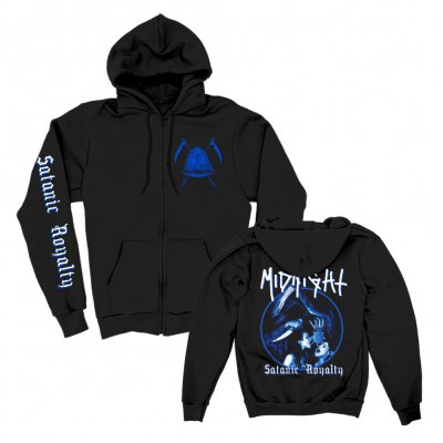 midnight - Satanic Royalty Zip Hoodie (Black)