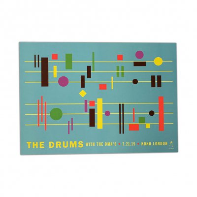 the-drums - 2015 Koko London Print (Light Blue)
