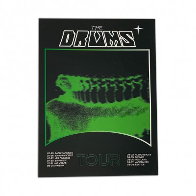 the-drums - Green Blur 2019 Tour Print