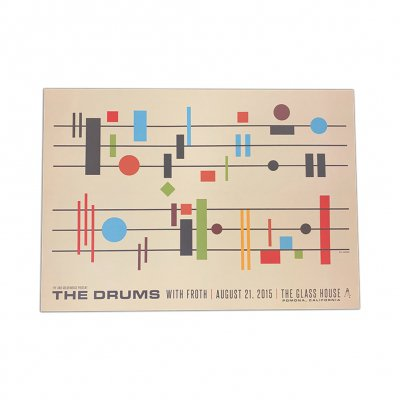 the-drums - 2015 Pomona Tour Print (Natural)