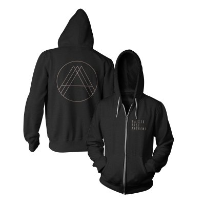 Raised Fist - Anthems Zip-Up Hoodie (Black)