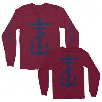 No Love Long Sleeve (Maroon)