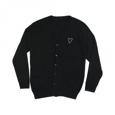 frank-iero - Barbed Wire Heart Cardigan (Black)