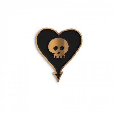 alkaline-trio - Gold Heartskull Enamel Pin
