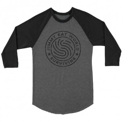 Surviving Emblem Raglan (Black/Grey)