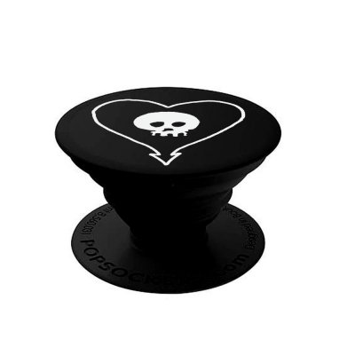 alkaline-trio - Heart Skull Pop Socket (Black)