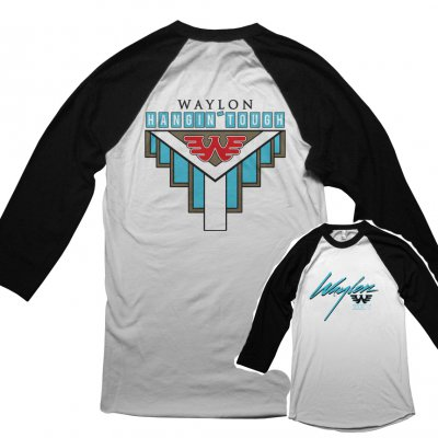 waylon-jennings - WJ Hangin Tough Raglan