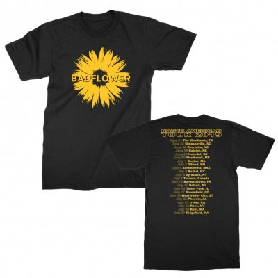 badflower - Yellow Daisy 2019 Tour Tee (Black)