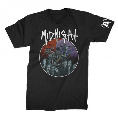 midnight - Rebirth By Blasphemy T-Shirt (Black)