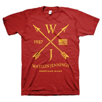 waylon-jennings - Arrows Tee (Red)