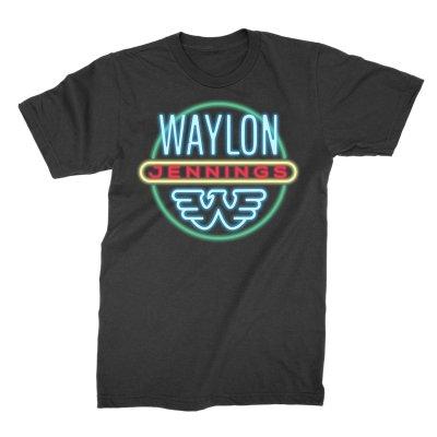 waylon-jennings - Neon Tee (Black)