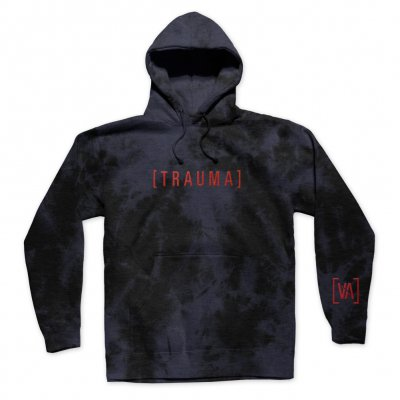 i-prevail - Trauma Tie Dye Embroidered Pullover Hoodie (Black)
