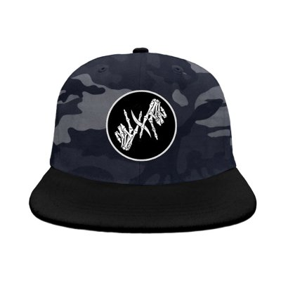 i-prevail - Skele Hands Patch Snapback Hat (Night Camo)