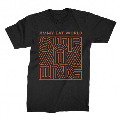 jimmy-eat-world - Surviving Cover Tee (Black)