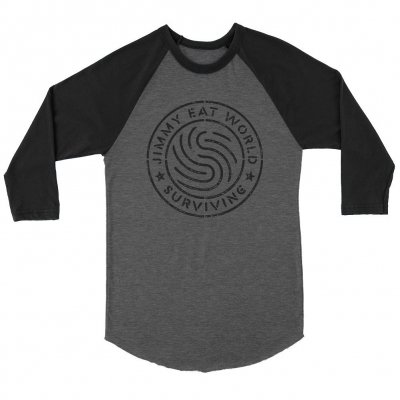 jimmy-eat-world - Surviving Emblem Raglan (Black/Grey)