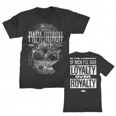 papa-roach - Skull Loyalty Tee (Black)