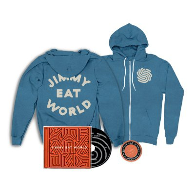 jimmy-eat-world - Surviving CD + Hoodie + Pin Bundle