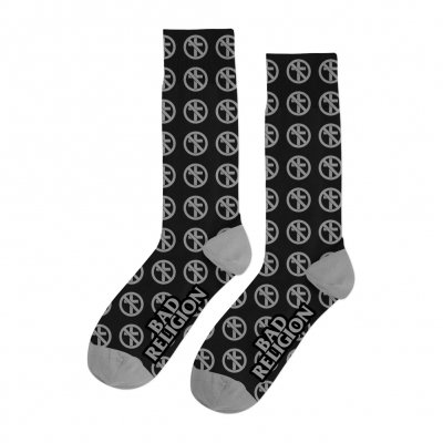 bad-religion - Crossbuster Socks (Black/Grey)
