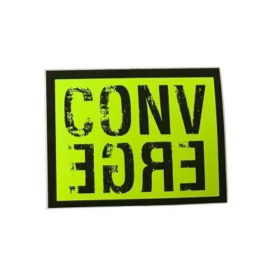 converge - Block Sticker (Black/Neon Yellow)