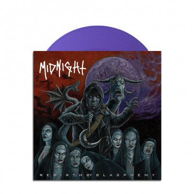 "midnight - Rebirth By Blasphemy 7"" (Purple)"