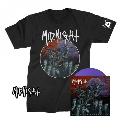 "midnight - Rebirth By Blasphemy 7"" (Purple) + Tee + Patch Bundle"
