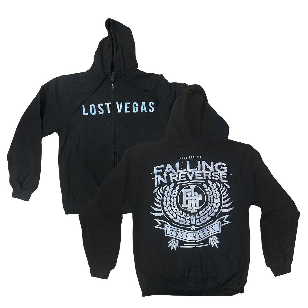 IMAGE | Lost Vegas Zip Up Hoodie (Black)