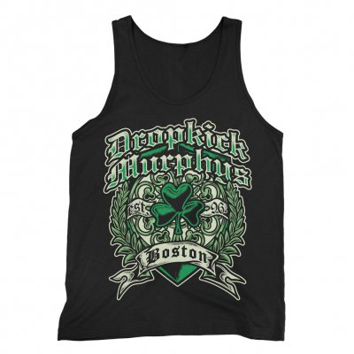 dropkick-murphys - Boston Irish Heart Tank (Black)