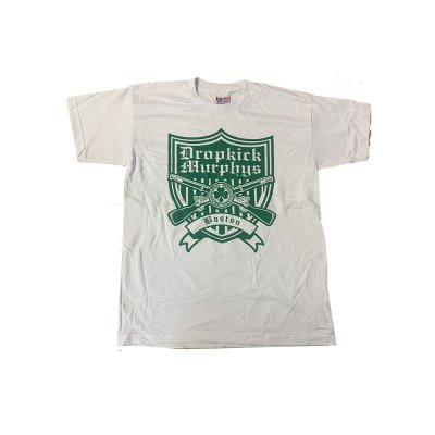 dropkick-murphys - Shield Tee (White)