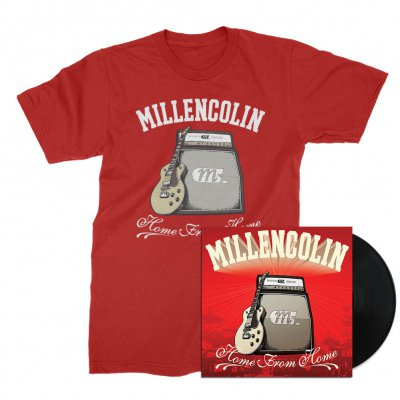 millencolin - Home From Home LP (Black) + Tee (Cherry Red) Bundle
