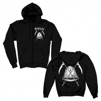 midnight - Bell Zip Up Hoodie (Black)