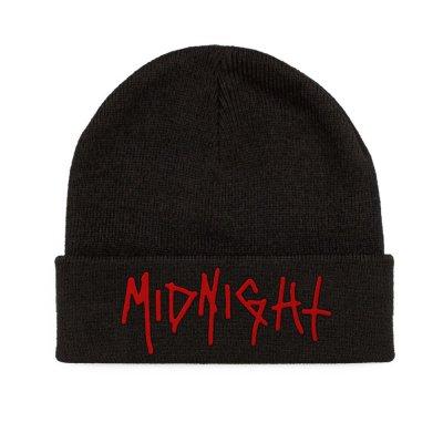 midnight - Red Logo Beanie (Black)