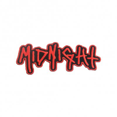 midnight - Logo Die Cut Patch (Red)