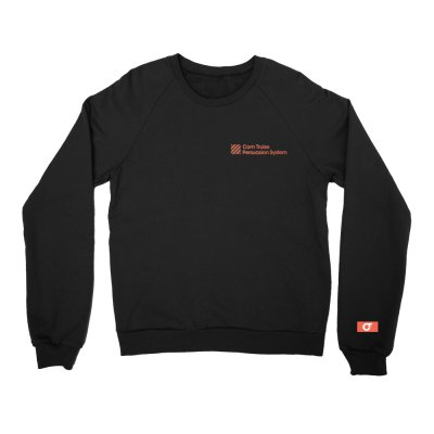 com-truise - Embroidered Persuasion System Crewneck (Black)