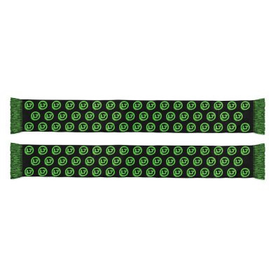 Neon Green Spray Repeater Scarf (Black)