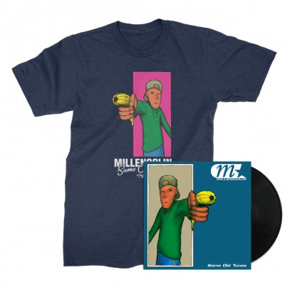 millencolin - Same Old Tunes LP (Black) + Tee (Heather Denim) Bundle