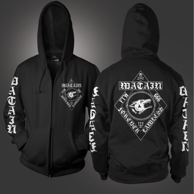 watain - Forever Lawless Zip Up Sweatshirt (Black)