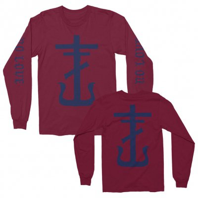 frank-iero - No Love Long Sleeve (Maroon)
