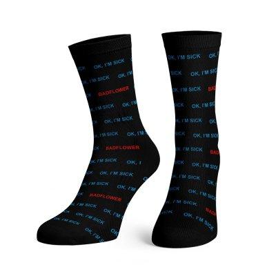 OK I'm Sick Dress Socks (Black)