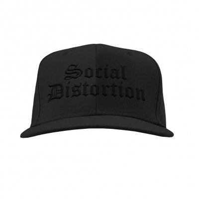 social-distortion - Logo Snapback Hat (Black/Black)