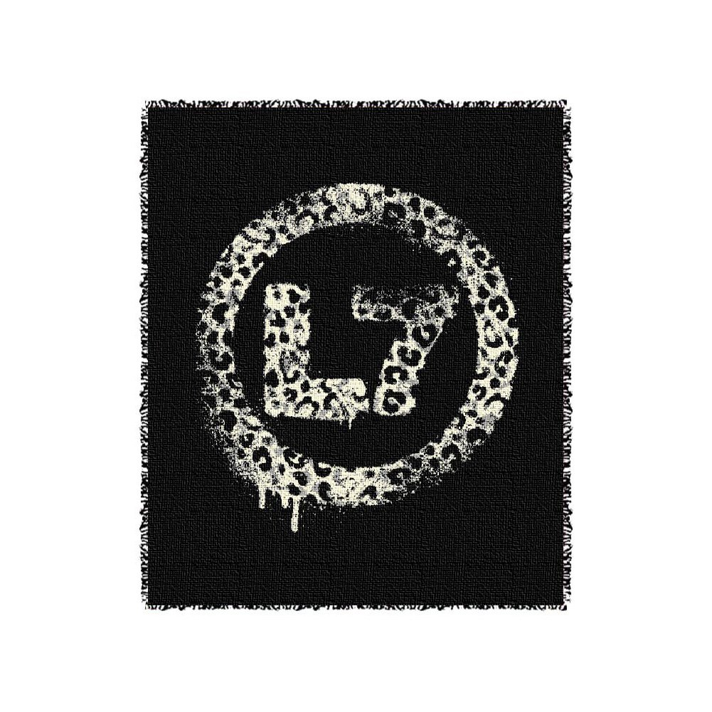 IMAGE | Leopard Spray Logo Throw Blanket (Black)