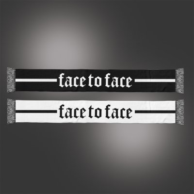 face-to-face - Crown Logo Scarf (Black/White)