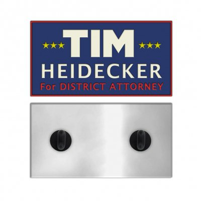 Tim Heidecker For District Attorney Enamel Pin