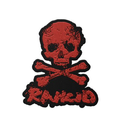rancid - D-Skull Die Cut Patch (Red)