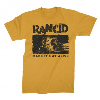 rancid - Shattered T-Shirt (Yellow)