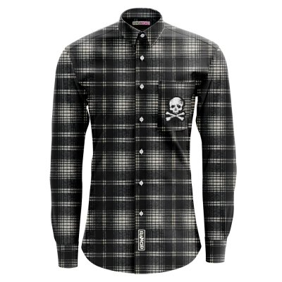 rancid - D-Skull Flannel (Black Ombre)