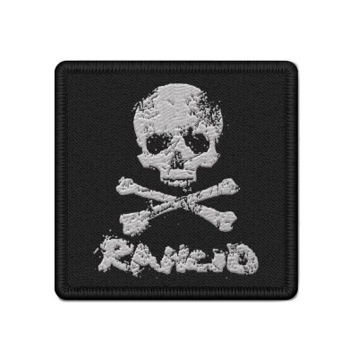 rancid - D-Skull Woven Patch (Black)