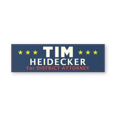 on-cinema-live - Tim Heidecker For District Attorney Bumper Sticker